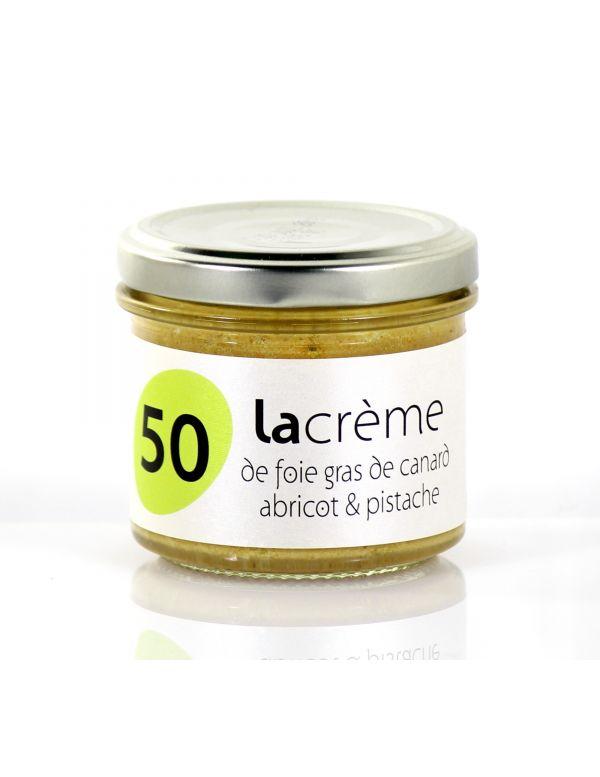 Crème de foie gras de canard abricot pistache