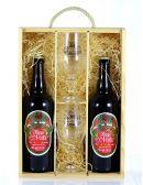 Coffret Bois Bière de Noël
