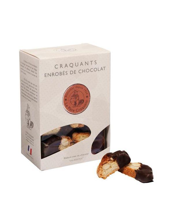 Biscuits enrobés de chocolat Valrhona