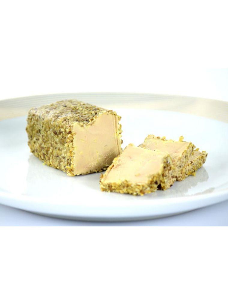 Foie gras mi-cuit aux graines de sésame