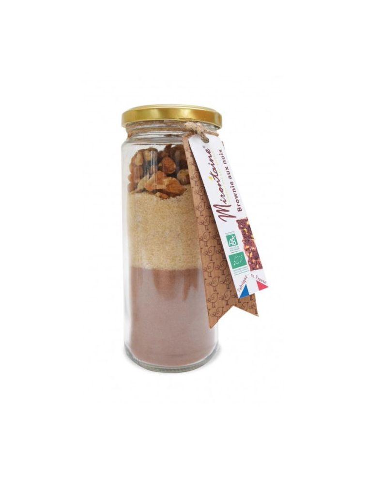 Préparation Bio pour Brownies aux noix en bocal