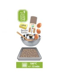 Préparation Brownies dans son coffret bois