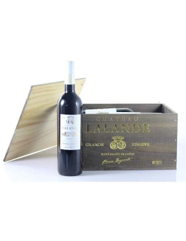 Vin Caisse Bois - Château Lalande Grande Réserve AOP Cabardès