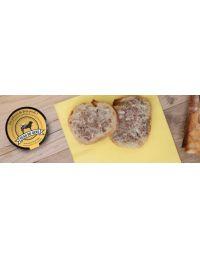 terrine de veau à l'armagnac sur tranche de pain