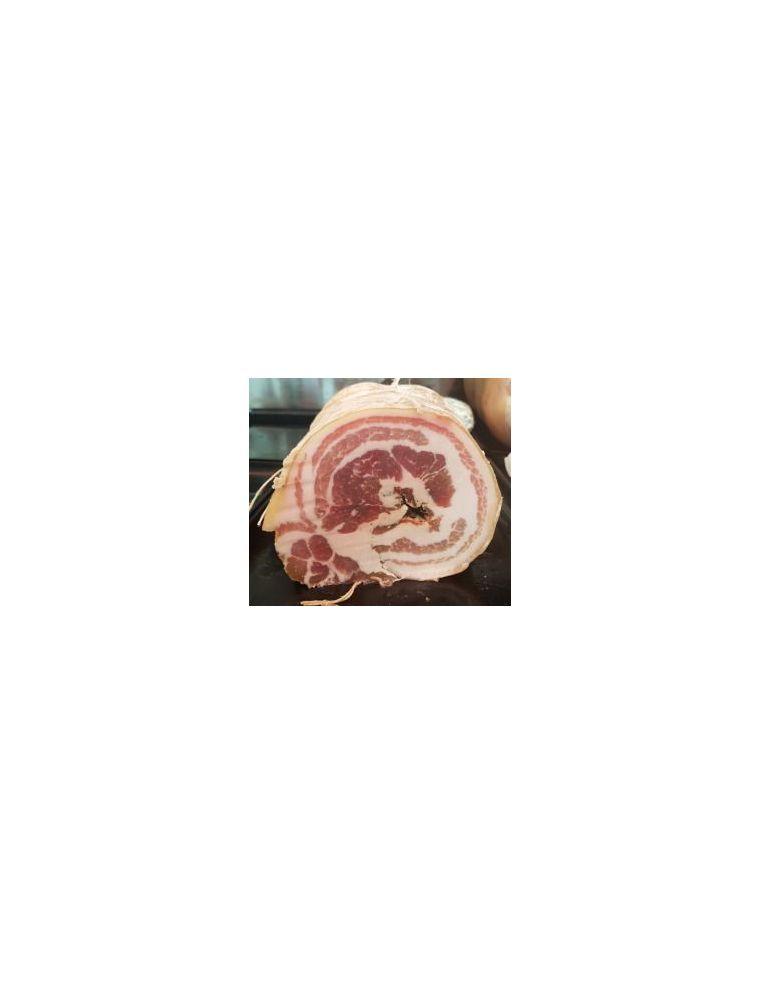 Poitrine de porc roulée salée