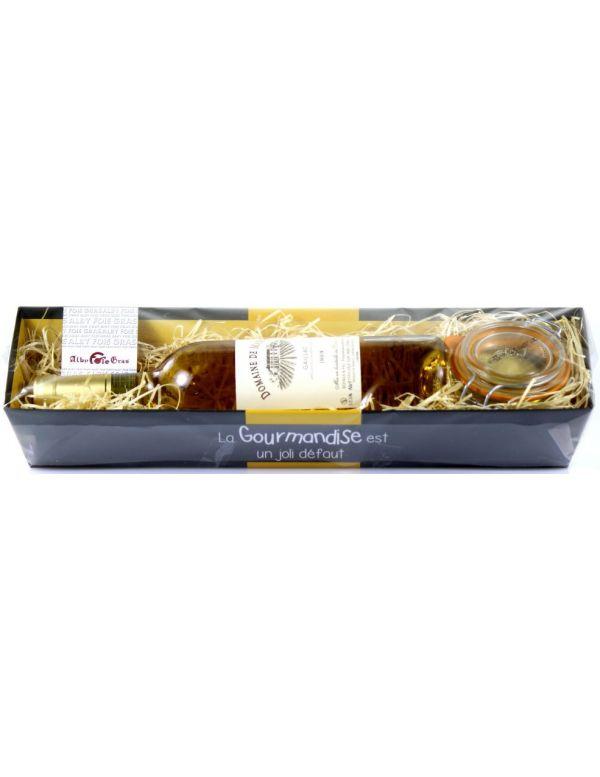 Bannette remplie de produits régionaux dont un foie gras