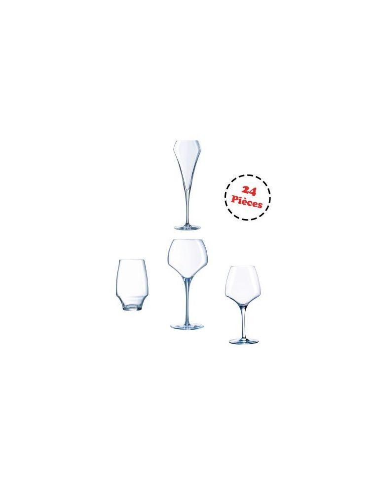 Service complet de 24 verres - Open Up - Chef&Sommelier
