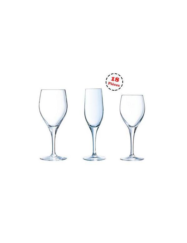 Service complet de verres à pied - Sensation Exalt - Chef et Sommelier