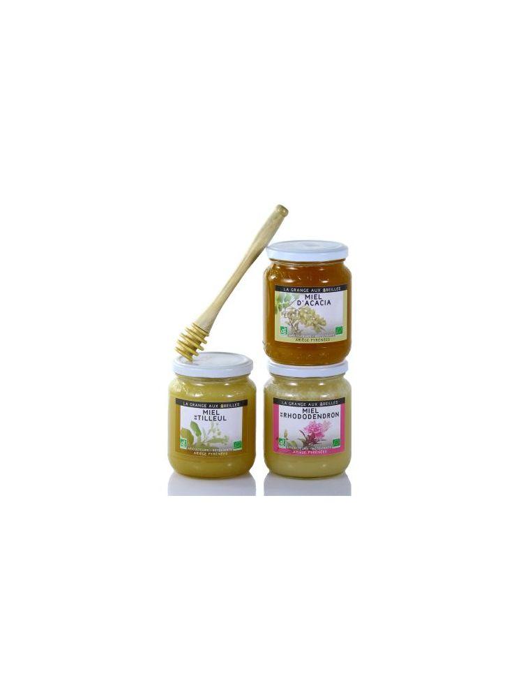 Coffret assortiment de miels Bio des Pyrénées - La Grange aux Abeilles