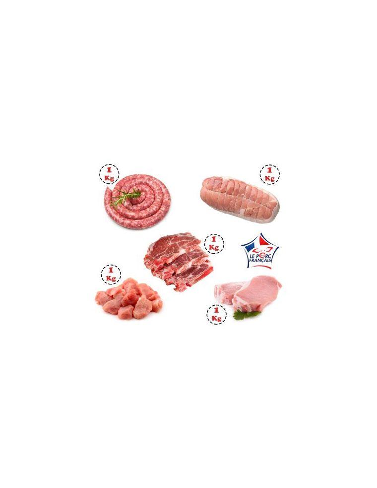 Colis viande de Porc 5 kg Origine France