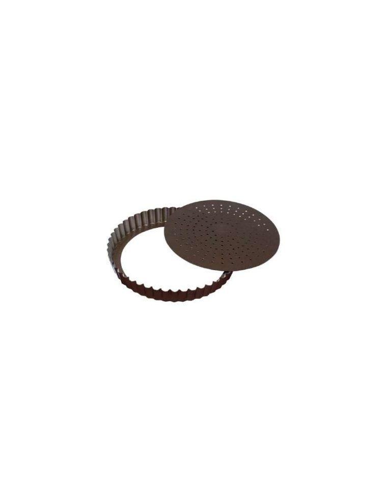 Tourtière Perforée à fond mobile 28 cm - Gobel