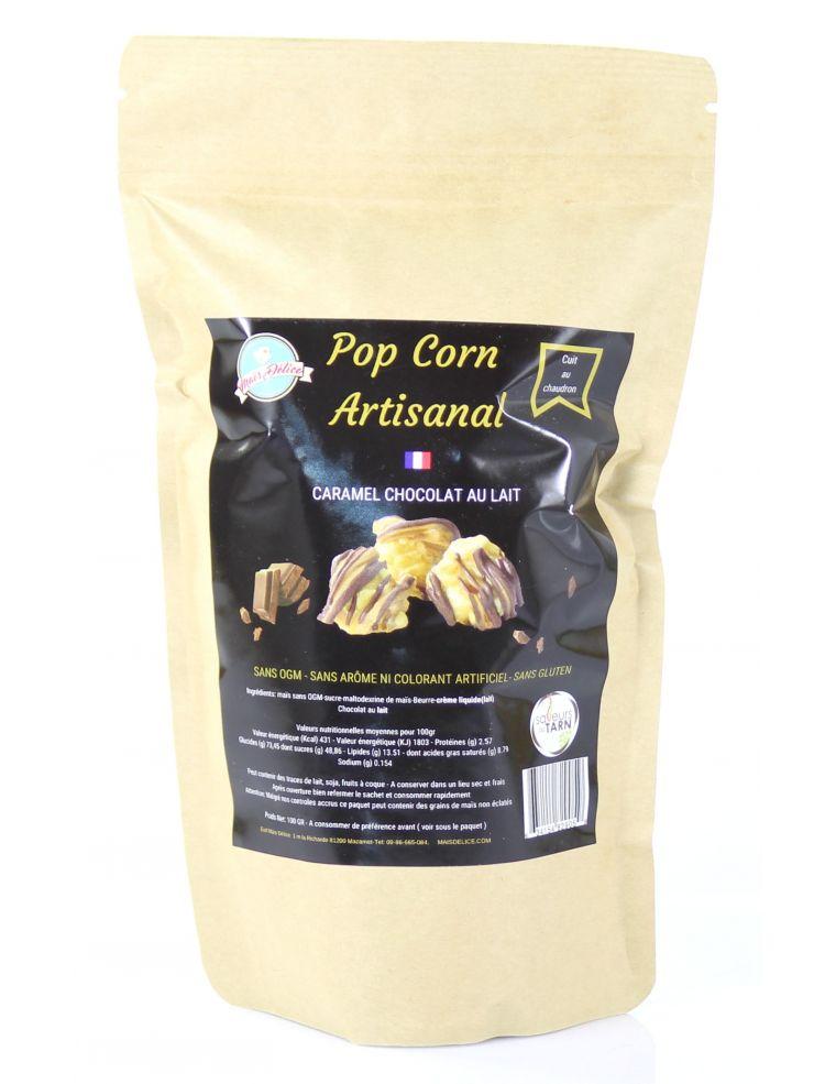 Pop Corn Caramel Chocolat au Lait - Maïs Délice