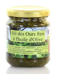 Ail des Ours frais et bio à l'huile d'Olive - Ferme de Capcinier