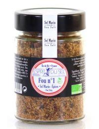 Sel Fou n°1 Paprika : Pot de Sel Marin Bio aux Épices - Esprit de Sel