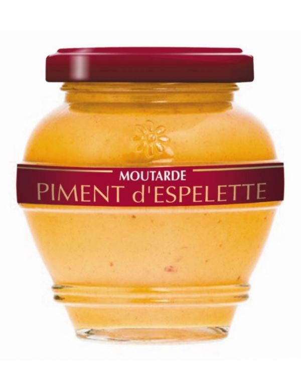 Moutarde au piment d'Espelette, pot de 200 g