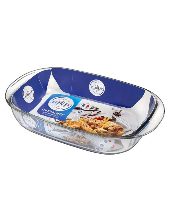 Plat en Verre Duralex - Plat Rectangulaire Spécial cuisson au four