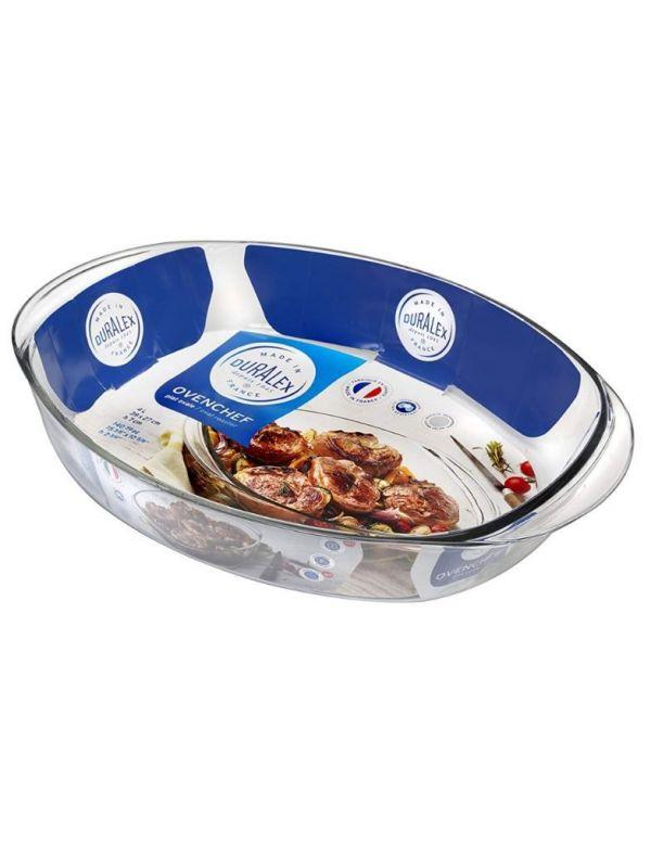 Plat en verre Duralex - Plat Ovale spécial cuisson au four