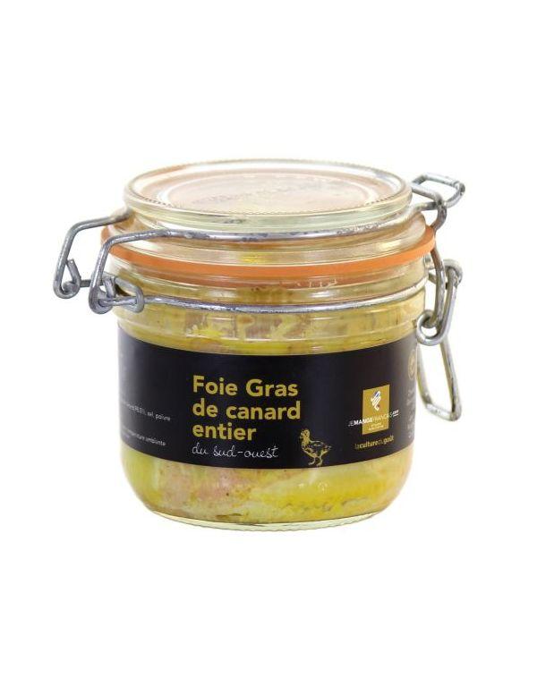 Foie gras de canard entier du Sud-Ouest conserve de 190 g