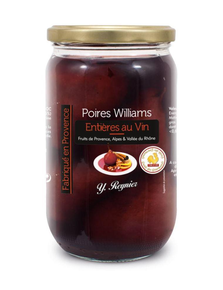 Poires Williams entières au Vin AOC Côtes du Ventoux