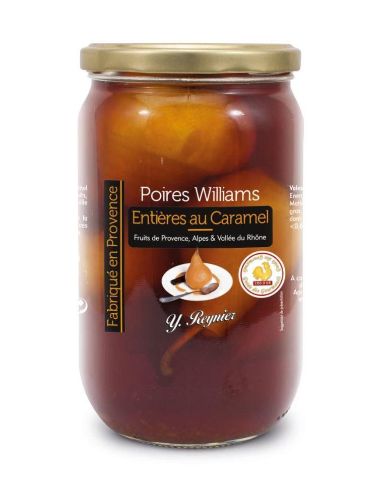 Poires Williams entières au Caramel, bocal de 850 g