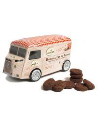 Sablés Tout Chocolat dans une boîte camionnette - Maison Mercier
