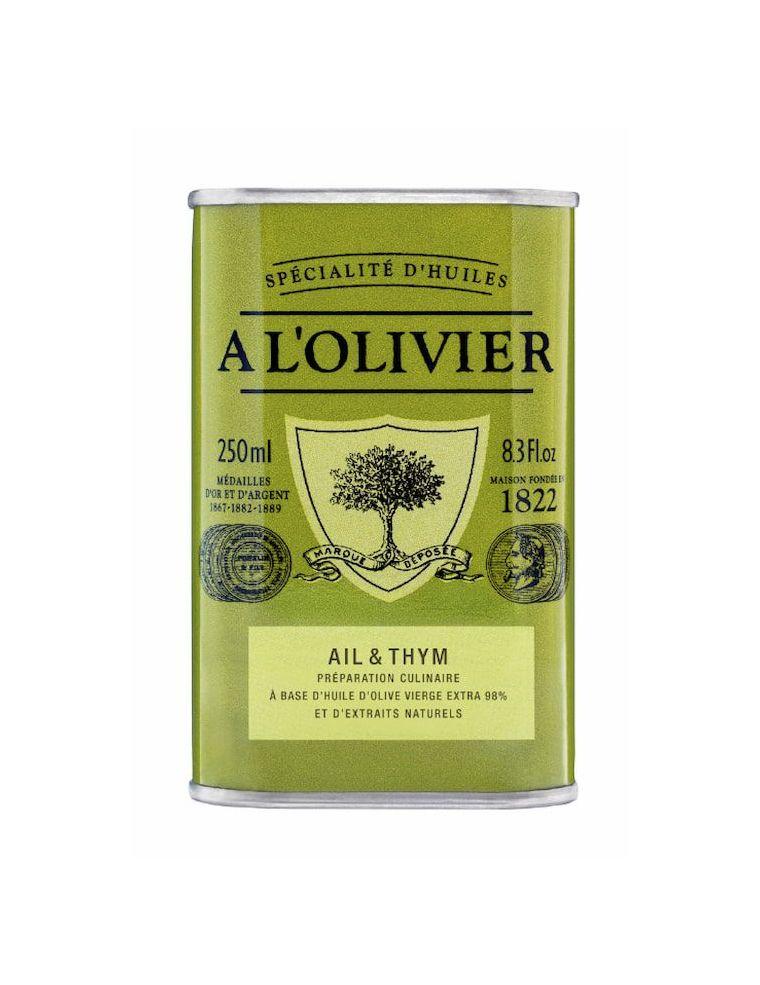 Huile d'olive Ail et Thym bidon de 250 ml