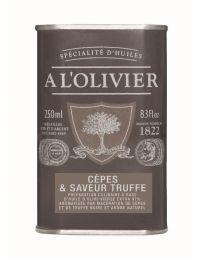 Huile d'olive aromatisée cèpes et truffes