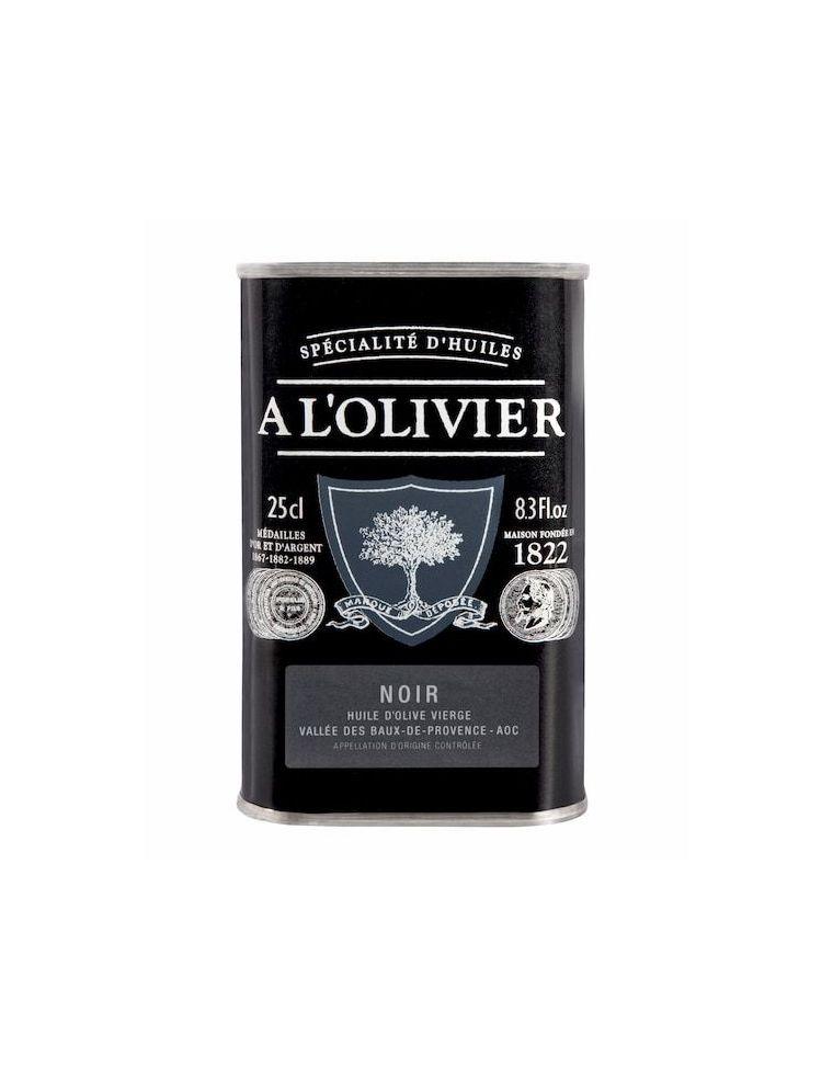 Huile Olive de France fruitée Noir, bidon de 250 ml