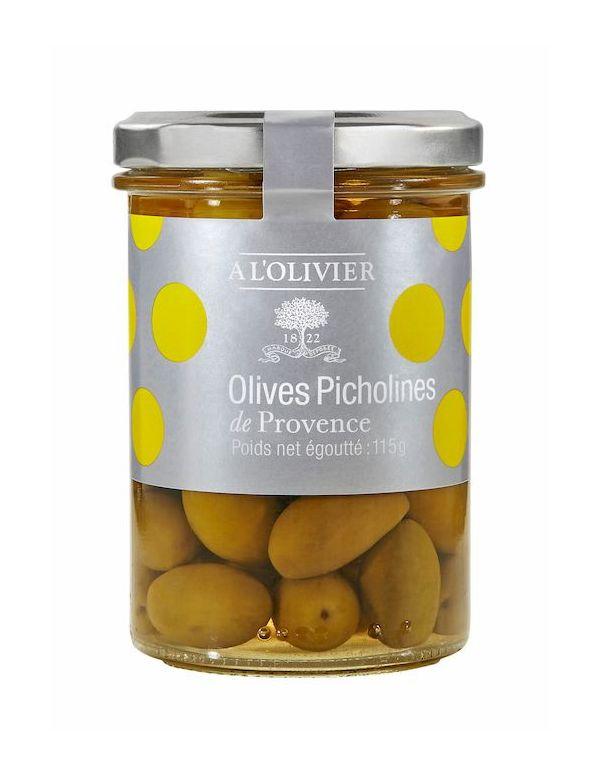 Olives vertes picholines de Provence pot de 125 g