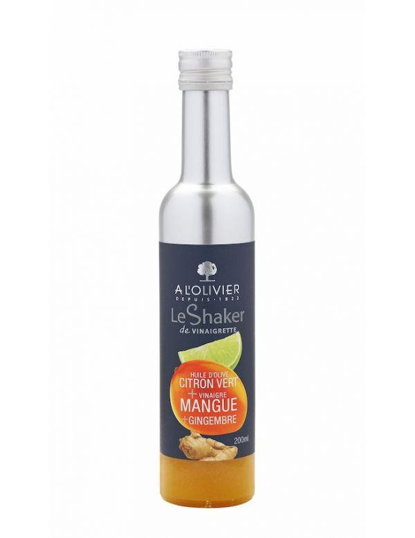Shaker Vinaigrette Huile d'olive citron vert + vinaigre de mangue gingembre