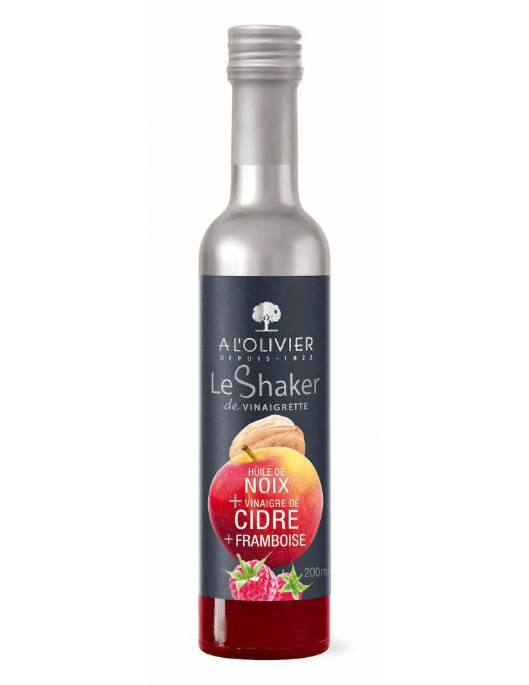 Vinaigrette Huile de noix vinaigre de cidre framboise shaker 20 cl