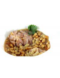 Jarret de porc aux haricots