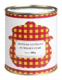 Soupe de Lentilles au magret fumé - Albu Foie Gras