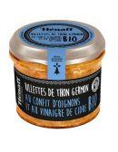 Rillette de Thon Germon au Confit d'Oignon et au vinaigre de Cidre BIO - Hénaff