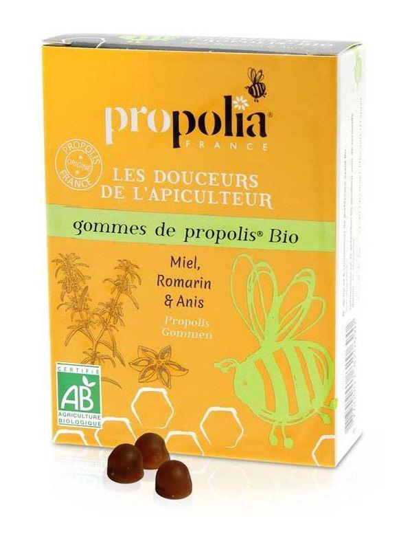 Gommes de Propolis Bio Miel Romarin et Anis