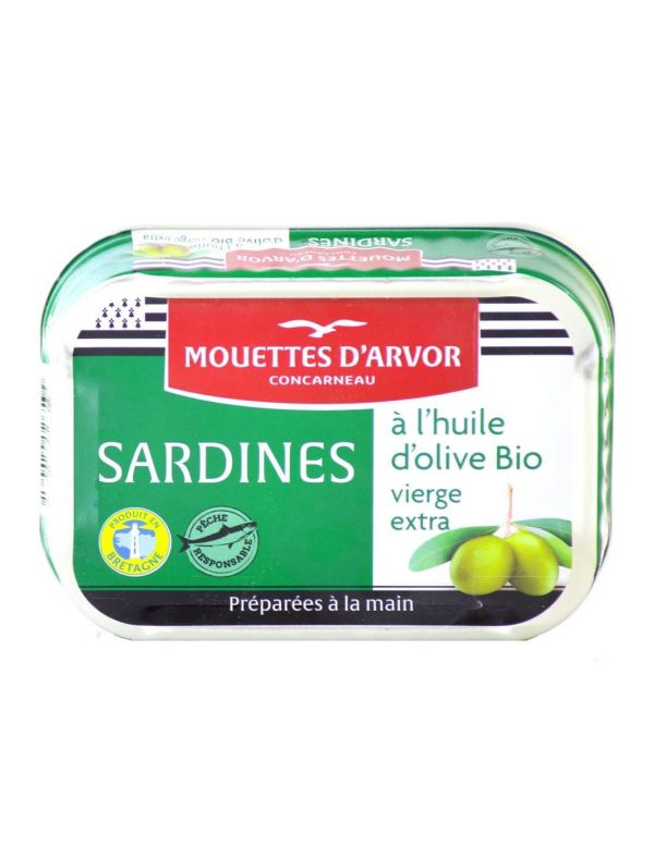 sardine à l'huile d'olive bio