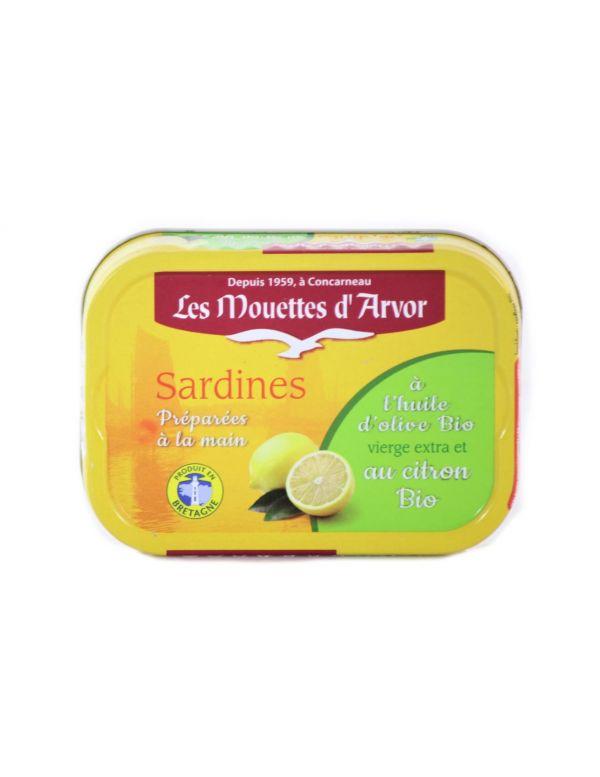 sardine à l'huile d'olive et au citron bio