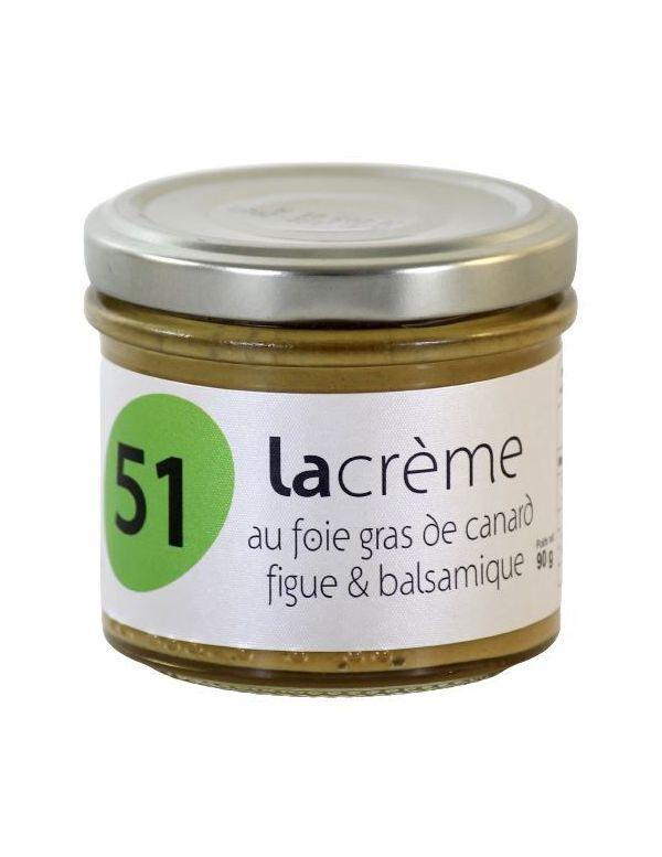 Crème de foie gras de canard aux figues et balsamique