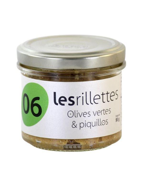 Rillettes aux olives vertes et piquillos