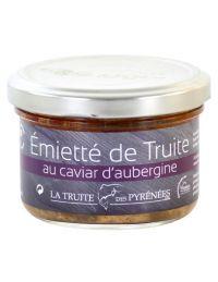 Emietté de truite au Caviar d'aubergine, pot de 90 g