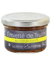 Emietté de Truite au Citron Confit, pot de 90 g