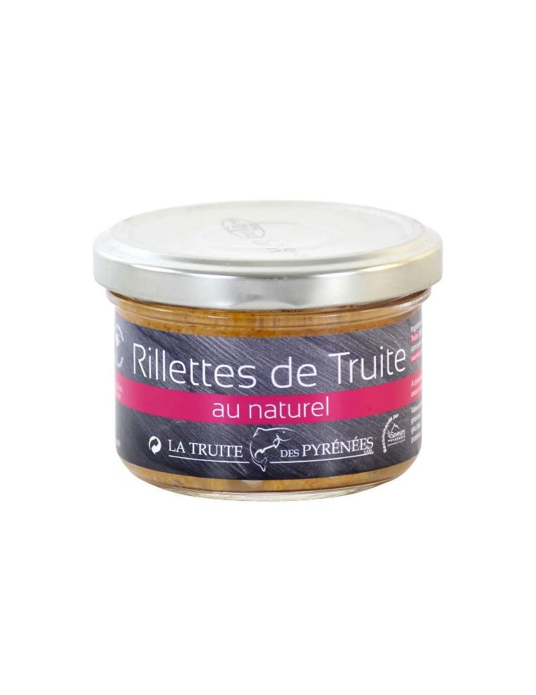 Rillettes de Truite au naturel, pot de 90 g