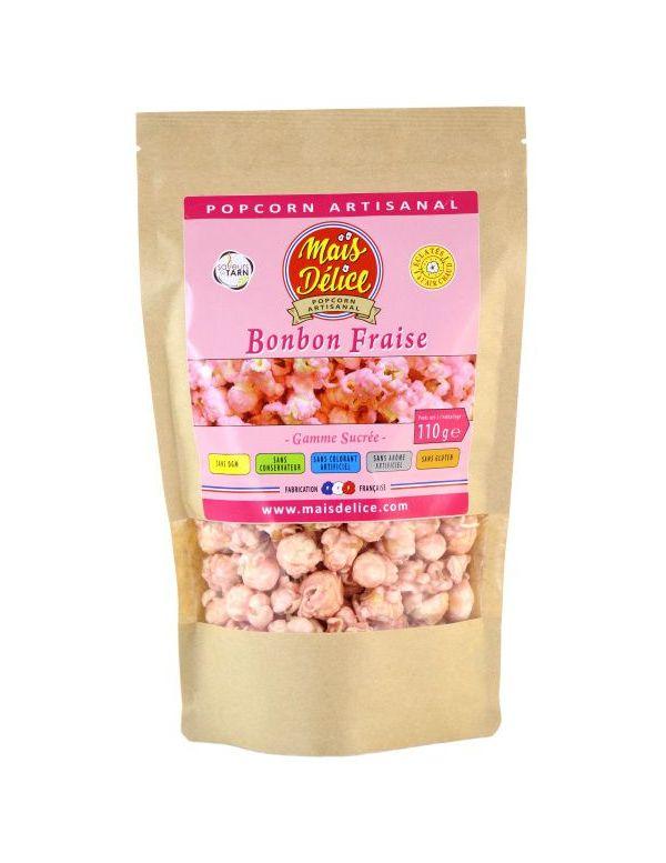 Pop Corn Fraise Bonbon - Maïs Délice