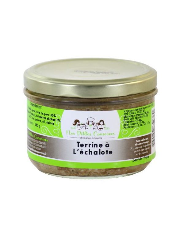 Terrine à l'échalote verrine de 180 g