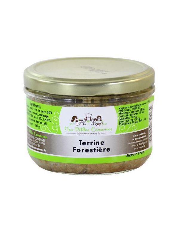 Terrine Forestière verrine artisanale