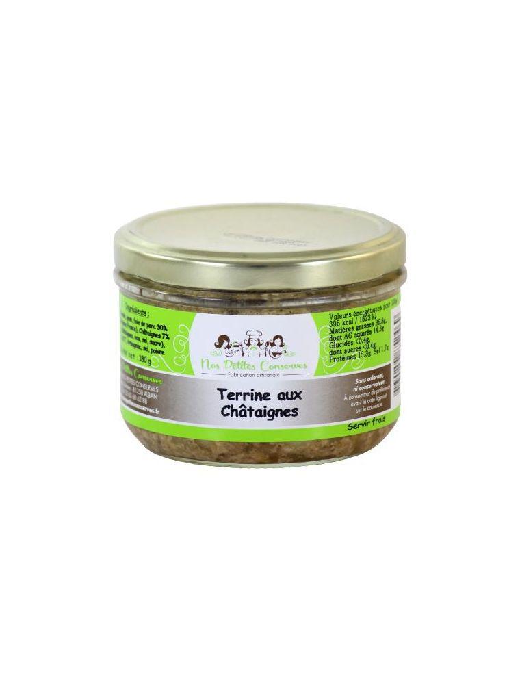 Terrine aux châtaignes verrine de 180 g