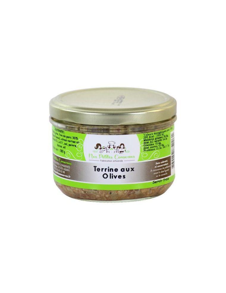 Terrine aux olives verrine de 180 g