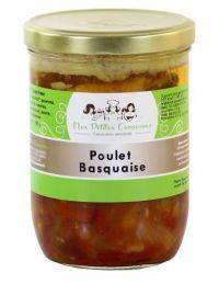 Poulet Basquaise, plat cuisiné pour 4 personnes