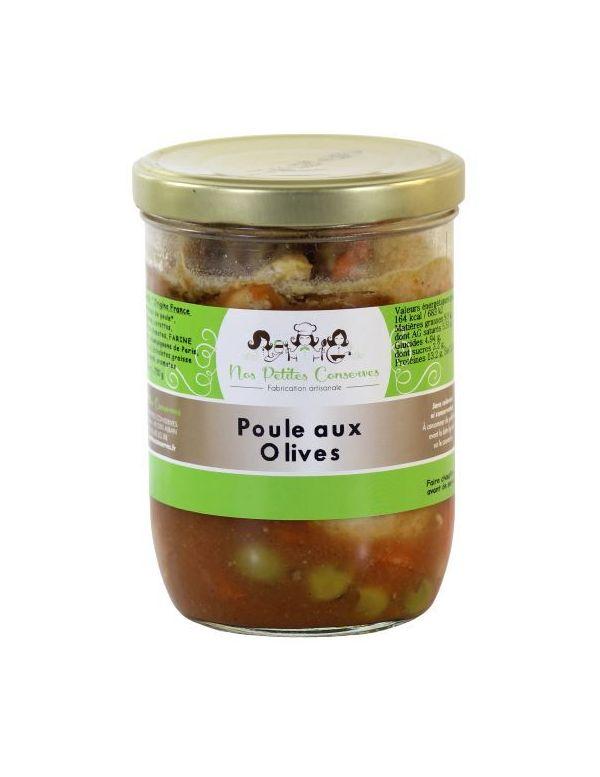 Poule aux olives, plat cuisiné pour 4 personnes