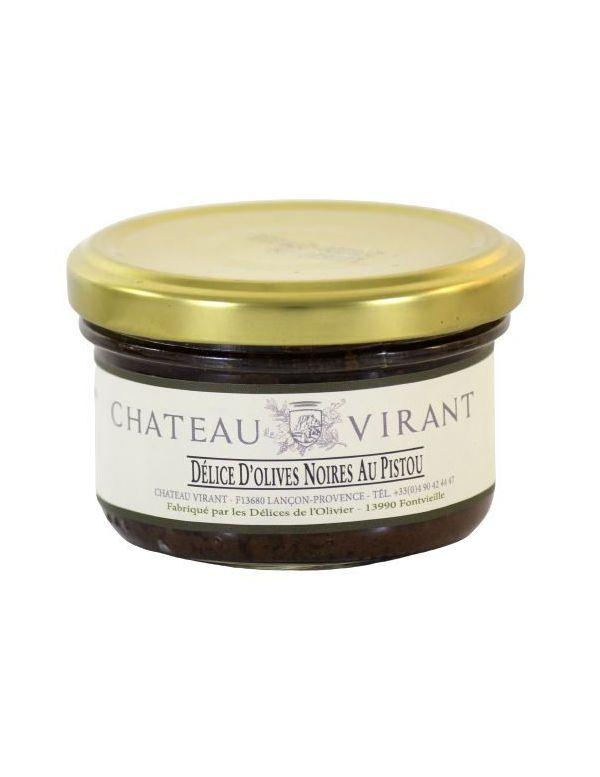 Délice d'olives noires au pistou